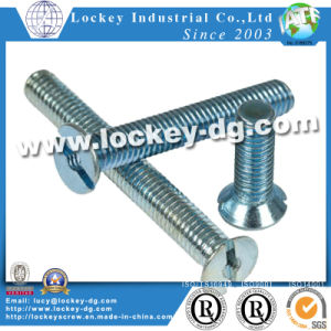 Slot Flat Head Machine Screw Steel Zinc pictures & photos