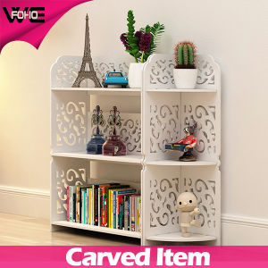 Exquisite Hollow out White Plastic-Wooden Modular Floating Shelving pictures & photos