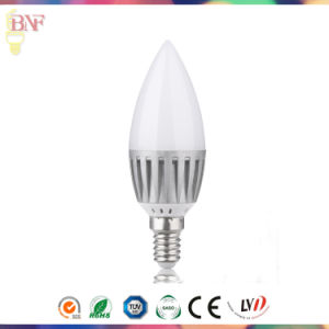 New LED Tail Flameless Candle C35 Glass Lamp Bulb 2W 4W 6W for Energy Saving pictures & photos