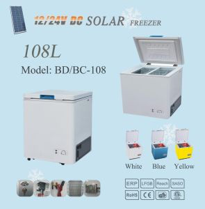 12V/24V Compressor Solar Refrigerator Freezer 108L pictures & photos