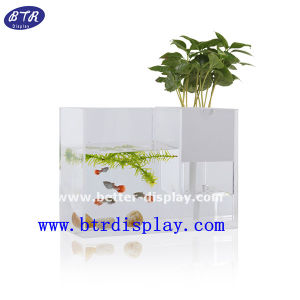 Custom Cylinder Fish Tank Large LED Acrylic Aquarium Tank (BTR-YKL) pictures & photos