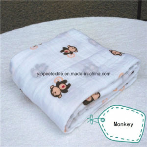 Super Soft &Smooth 70%Bamboo 30%Cotton Muslin Wrap Swaddle. 120X120cm pictures & photos