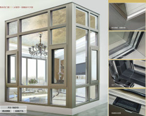 New Style Toughened Glass Aluminium French Casement Window pictures & photos