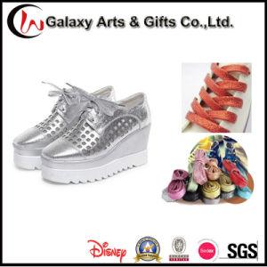 120cm Multi-Colour Round Fashion Silvery Shiny Flat Golden Gitter Shoelace pictures & photos