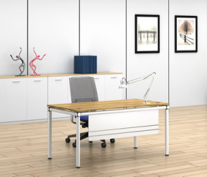 White Customized Metal Steel Office Staff Desk Frame with Ht81-1 pictures & photos