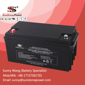 12V 65ah SLA Deep Cycle Battery for Uninterruptible Power Supply pictures & photos