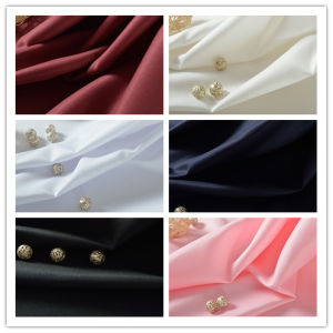 Woven Textile 100% Polyester Twill Fabric for Shirt