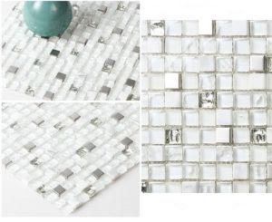 White Glass Brick, Marble Stone Mosaics Tiles (FYST189) pictures & photos