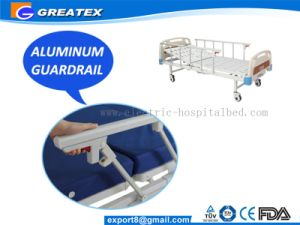 One Crank Simple Hospital Beds with 6-Rank Al-Alloy Handrail (GT-BM204) pictures & photos