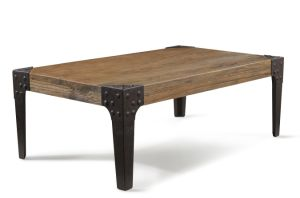 Recycled Elm Wood Coffee Table Vintage Design