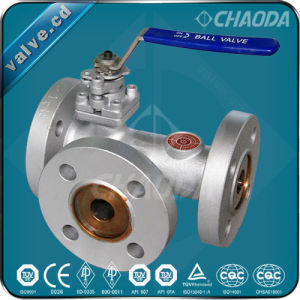 YQ44F Flanged Combined Three Way Ball Valve pictures & photos