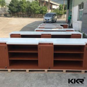 Kkr Office Solid Surface Reception Furniture Reception Desk Design pictures & photos