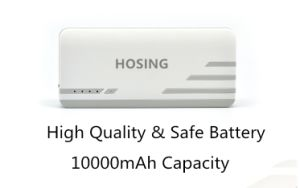 3 USB Ports 10000mAh Durable Power Bank for Samsung Huawei pictures & photos