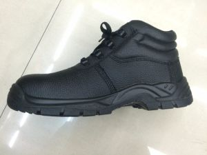 Men Leather Slip-Resistant Work Boots Military Safety Shoes pictures & photos