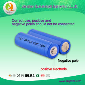 (QSD-3712) 3.7V 1200mAh 18650 Rechargeable Li-ion Battery pictures & photos