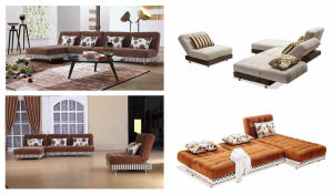 High Quality Fabric Functional Sofa Cum Bed pictures & photos