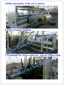 Plastic PE CPP Side Sealing Wicket Bag Machine with Windmill pictures & photos
