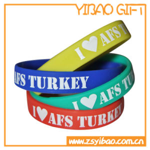 Custom Silicone Wristband with Debossed Infilled Words (YB-SW-04) pictures & photos
