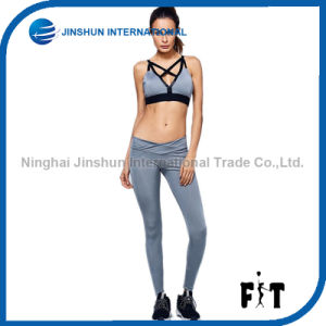 Latest Summer Women Sports Suit Fitness Elastic Waistband Yoga Two-Piece Set pictures & photos