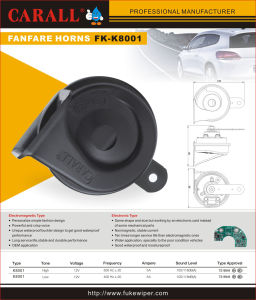 Competitive Price Car Speaker Bosch Horn Electric Horn 115dB pictures & photos