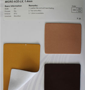 PU Microfiber Leather for Shoe, Car Seat, etc (HL36-02) pictures & photos