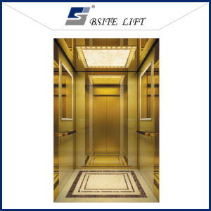 Passenger Lift with Titanium Etching Stainless Steel pictures & photos