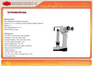 China Manufacturer Digital Slit Lamp Microscope Medical Apparatus pictures & photos