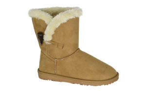 Women′s Microfiber Snow Boots with Toggle pictures & photos