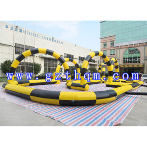 Inflatable Go Kart Track/Inflatable Race Track/Inflatable Sport Gamesinflatable Air Car Track for Play Game pictures & photos
