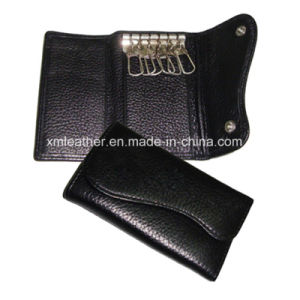 Men Leather 6 Hook Key Case Car Key Holder Wallet pictures & photos
