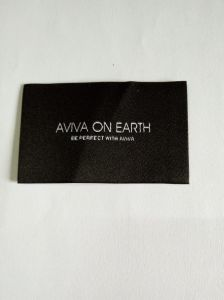 Black Colour Garment Woven Label pictures & photos