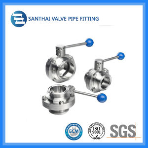 2016 Stainless Steel Sanitary Bw Butterfly Valve
