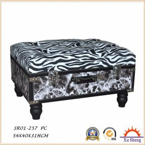 Living Room Furniture Wooden Lift Top Storage Ottoman Suitcase Chest with Removable Legs pictures & photos