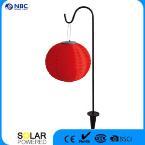 Chinese Red Solar Lantern Changing Color Solar Light with Iron Stake pictures & photos