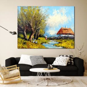 Modern Peaceful Countryside Canvas Painting pictures & photos