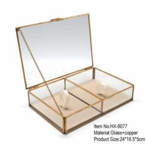 Lowest Price Glass Jewelry Box for Romatic Wedding pictures & photos