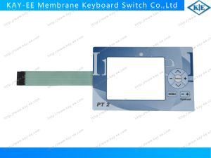 Gradient Printed Membrane Switch with Rim Emboosed Keys and Nicomatic Connector pictures & photos