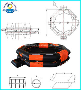 Solas Approved 100 Person Open-Reversible Inflatable Liferaft