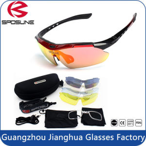 First Quality Polarized Custom Logo Sports Sunglasses Interchangeable Arms Anti UV400 Riding Running Climbing Cycling Sunglasses pictures & photos