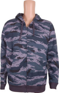 2017men Zipper Througt Jacket with Camoflage Print