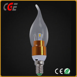 360 Degree E14 Mcob 3W 300lm LED Candle Light Bulb pictures & photos