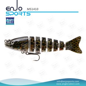 Multi Jointed Plastic Lure Sinking Bait Trible Hook Fishing Tackle Fishing Lure (MS1410) pictures & photos