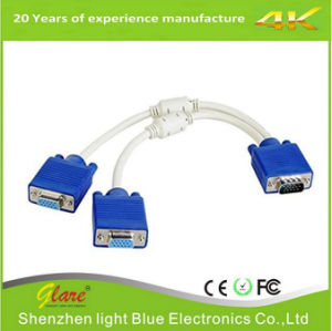VGA HD15-M to (2) VGA HD15-F Splitter Y Cable pictures & photos