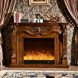 Antique Furniture LED Flame 3D Effect Heater Electric Fireplace (331B) pictures & photos