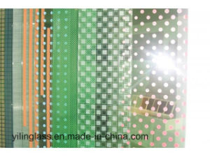 Acid and Alkali Resistant Decorative Ceramic Frit Glass with Printing Inorganic Paint pictures & photos