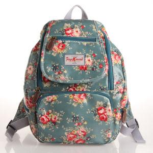 Waterproof PVC Canvas Floral Patterns Backpack Bag (23208)