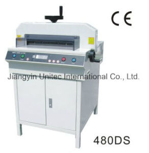 2016 Hot Sale Electric Paper Cutter Trimmer Guillotine Machine with LCD Light 480ds pictures & photos