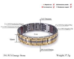 Hottime 591PCS Health Element Titanium Bracelet for Unisex (10093) pictures & photos