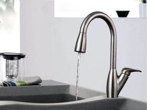American Hot Sale Stainless Steel Pull out Kitchen Faucet (AB119) pictures & photos