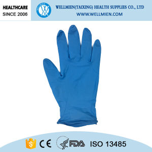 Disposable Medical Finger Embossed Nitrile Gloves pictures & photos